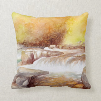 East Lyn river waterfalls Cushion
