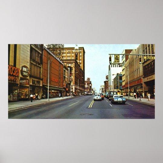 East Main Street 1960s Poster