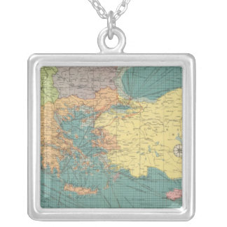 East Mediterranean Silver Plated Necklace