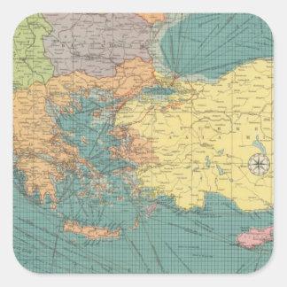 East Mediterranean Square Sticker