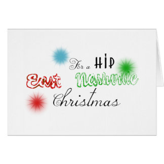 East Nashville Customized Christmas Decal Greeting Cards