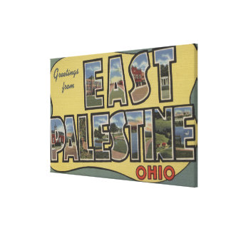 East Palestine, Ohio - Large Letter Scenes Canvas Print