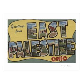 East Palestine, Ohio - Large Letter Scenes Postcard