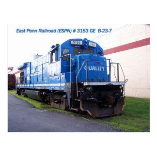 East Penn Railroad Locomotive #3153 Postcard