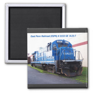 East Penn Railroad Locomotive #3153 Square Magnet