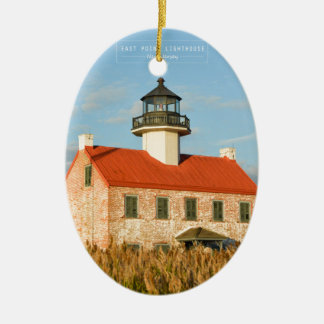 East Point Lighthouse. Christmas Ornament
