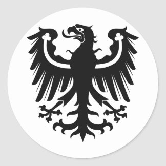 East Prussian Black Eagle Classic Round Sticker