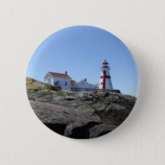 East Quoddy Lighthouse 6 Cm Round Badge