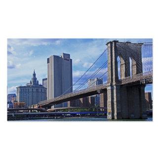 East River: Brooklyn Bridge & Municipal Building Pack Of Standard Business Cards
