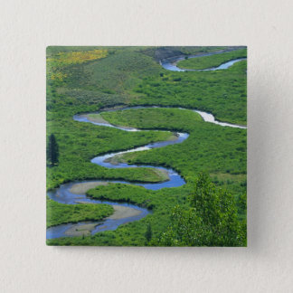 East River near the town of Crested Butte. 15 Cm Square Badge