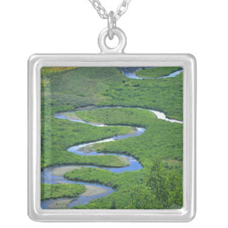 East River near the town of Crested Butte. Silver Plated Necklace