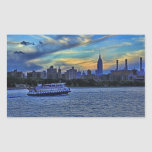 East River View of Sunset Over the NYC Skyline Stickers