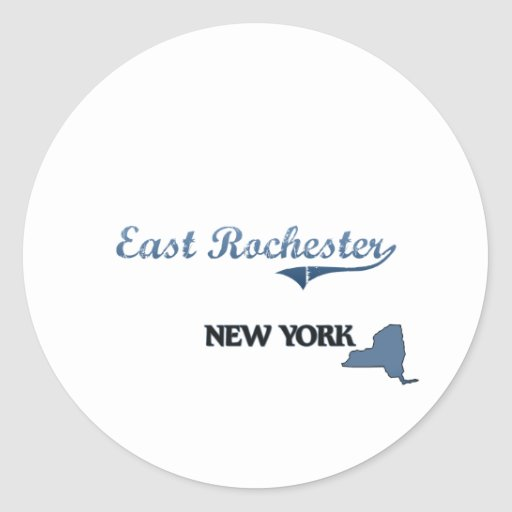 East Rochester New York City Classic Round Stickers
