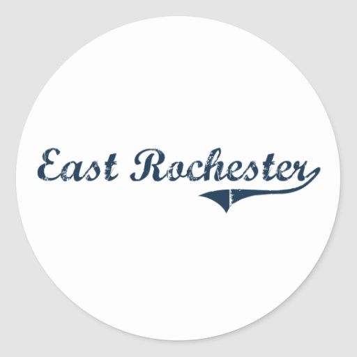 East Rochester New York Classic Design Round Stickers