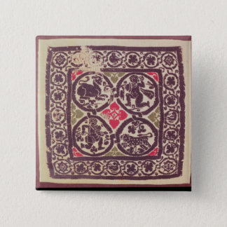 East Roman Empire tapestry showing wild beast 15 Cm Square Badge