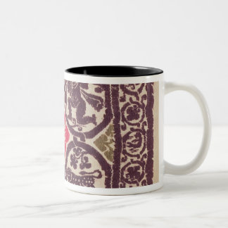 East Roman Empire tapestry showing wild beast Two-Tone Coffee Mug