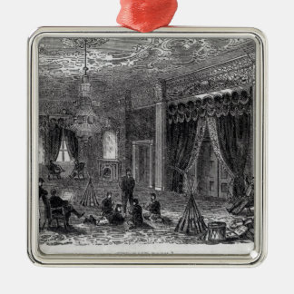 East Room of the White House During the Civil Christmas Ornament