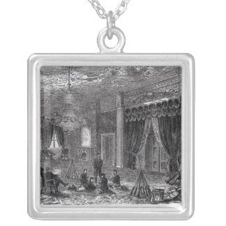 East Room of the White House During the Civil Silver Plated Necklace