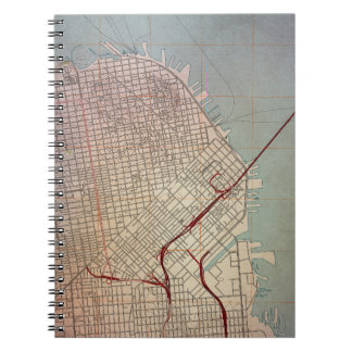 East San Francisco Topographic Map Spiral Note Book