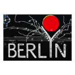 East Side Gallery, Berlin Wall, Barbed Wire/Red Su Print