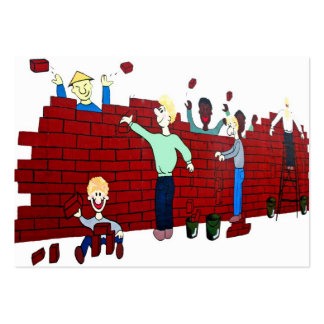East Side Gallery,Berlin Wall,Collapse,Cartoon(2) Pack Of Chubby Business Cards