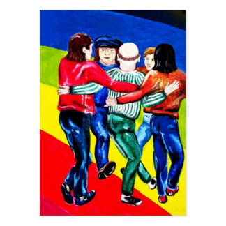 East Side Gallery, Berlin Wall, Dancing (1) Large Business Cards (Pack Of 100)