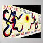 East Side Gallery,Berlin Wall,Dancing Freedom Poster