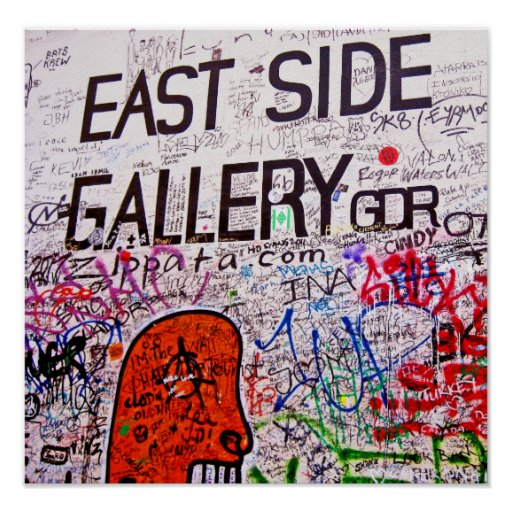 East Side Gallery, Berlin Wall, Graffiti Poster