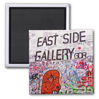 East Side Gallery, Berlin Wall, Graffiti Square Magnet