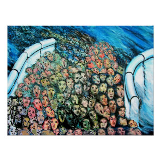 East Side Gallery, Berlin Wall, Mass Escape Poster