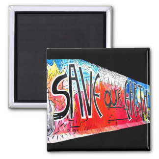 East Side Gallery, Berlin Wall, Save Our Earth (1) Refrigerator Magnet