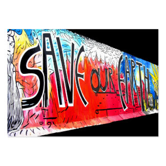 East Side Gallery, Berlin Wall, Save Our Earth (1) Pack Of Chubby Business Cards