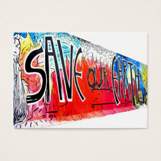 East Side Gallery, Berlin Wall, Save Our Earth (2) Business Card