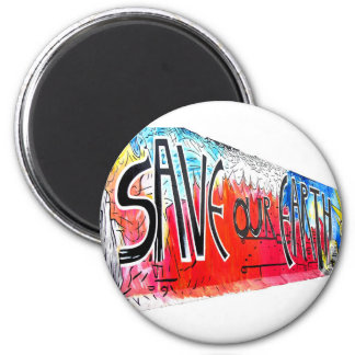 East Side Gallery, Berlin Wall, Save Our Earth (2) Refrigerator Magnets