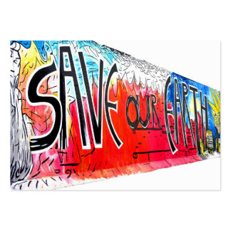 East Side Gallery, Berlin Wall, Save Our Earth (2) Pack Of Chubby Business Cards