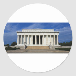 East Side of the Lincoln Memorial Washington D.C. Classic Round Sticker
