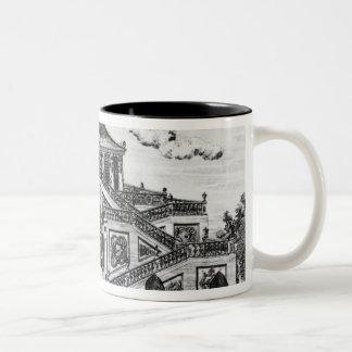 East side of the Palace of the Calm of the Sea, Ga Two-Tone Coffee Mug