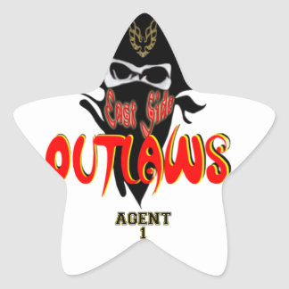 East Side OUTLAWS Collection Star Sticker