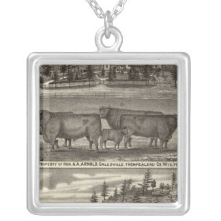East Side, res & property and Davis' Mill Silver Plated Necklace