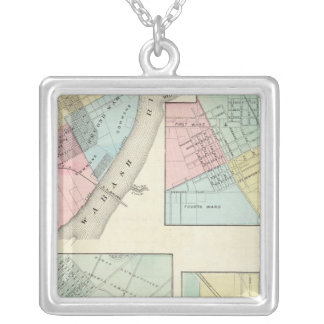 East St Louis, Mt Carmel, Jerseyville and Mendota Silver Plated Necklace