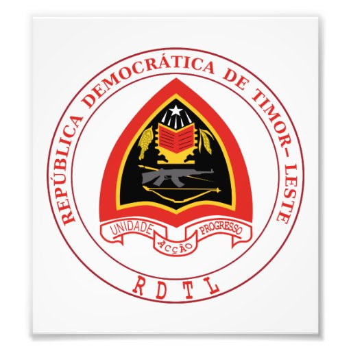 East Timor Coat Of Arms Art Photo