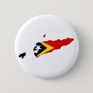 east timor country flag map shape l'este 6 cm round badge
