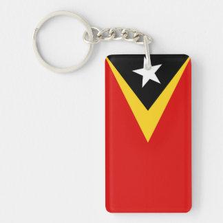 east timor country flag nation symbol long key ring