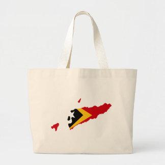 East Timor flag map Canvas Bag