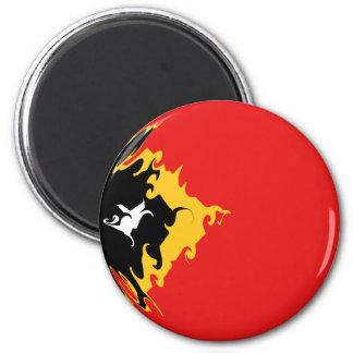East Timor Gnarly Flag Fridge Magnet