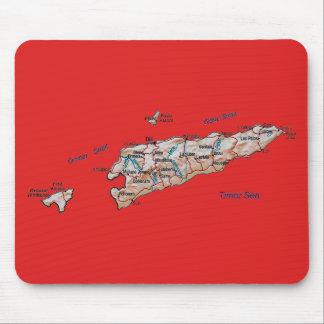 East Timor Map Mousepad