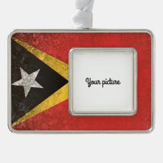 East Timor Silver Plated Framed Ornament