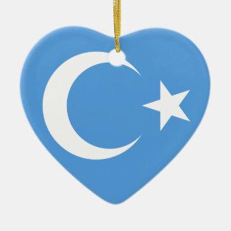 East Turkestan Uyghur Flag Christmas Ornament