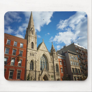 East Village Church and Buildings Mouse Pad