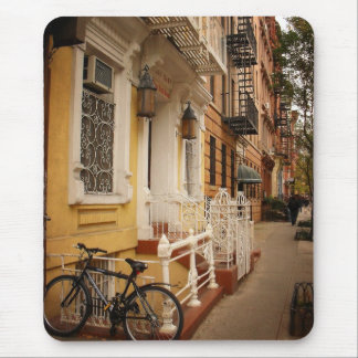 East Village Sidewalk on an Autumn Day Mouse Pad
